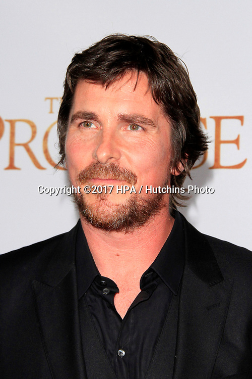 """LOS ANGELES - APR 12:  Christian Bale at the """"The Promise"""" Premiere at the TCL Chinese Theater IMAX on April 12, 2017 in Los Angeles, CA"""