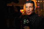 Sergio Martinez giving an interview for HBO's Buzz © Al Powers, PowersImagery.com