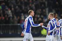 VOETBAL: HEERENVEEN: Abe Lenstra Stadion, 07-02-2015, Eredivisie, sc Heerenveen - PEC Zwolle, Eindstand: 4-0, Henk Veerman (#20), Doke Schmidt (#12), ©foto Martin de Jong