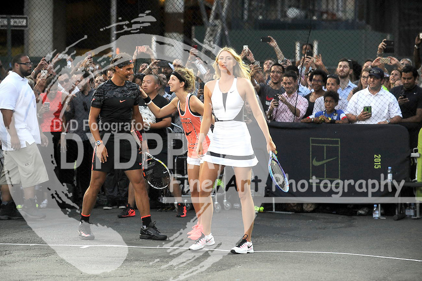 Maria Sharapova attending Nike's 'NYC Street Tennis' event on August 24, 2015 in New York City