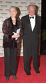 "Rosemary Harris and John Ehle arrive at the Harry S. Truman Building (Department of State) in Washington, D.C. on December 4, 2004 for a dinner hosted by United States Secretary of State Colin Powell.  At the dinner six performing arts legends will receive the Kennedy Center Honors of 2004.  This is the 27th year that the honors have been bestowed on ""extraordinary individuals whose unique and abundant artistry has contributed significantly to the cultural life of our nation and the world"" said John F. Kennedy Center for the Performing Arts Chairman Stephen A. Schwarzman.  The award recipients are: actor, director, producer, and writer Warren Beatty; husband-and-wife actors, writers and producers Ossie Davis and Ruby Dee; singer and composer Elton John; soprano Joan Sutherland; and composer and conductor John Williams.<br /> Credit: Ron Sachs / CNP"