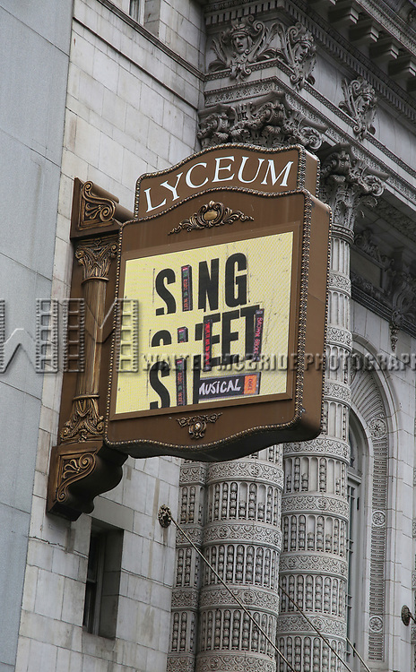"Theatre Marquee unveiling for  ""Sing Street"" at the Lyceum Theatre on February 4, 2020 in New York City."