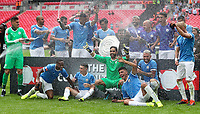 Manchester City lift the FA Community Shield after beating Liverpool on penalties at Wembley Stadium on August 4th 2019 in London, England. (Photo by John Rainford/phcimages.com)<br /> Foto PHC/Insidefoto <br /> ITALY ONLY