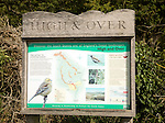 High and Over information board, South Downs national park, near Alfriston, East Sussex, England