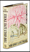 BNPS.co.uk (01202)558833<br /> Pic:  SwannAuctionGalleries/BNPS<br /> <br /> You Only Live Twice, first edition, 1964. <br /> Estimate $300 to $400.<br /> <br /> A single owner collection of historic James Bond first editions inscribed by Ian Fleming have emerged for sale for £55,000. ($70,000)<br /> <br /> The marquee lot is a first edition of Goldfinger (1959) given by the author to legendary golfer Sir Henry Cotton, who won The Open three times.<br /> <br /> Fleming references the chapters containing the classic golf match between Bond and the villain Auric Goldfinger, whose caddy was Oddjob, in the book.<br /> <br /> The collection of 13 books is being sold by a private collector with US based Swann Auction Galleries.