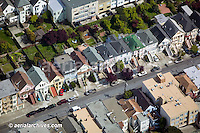 aerial photograph gardens in residential San Francisco neighborhood