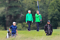 Kevin Stevens carrying the score board for the 2nd Irish match on the 2nd along with Conor Purcell of Team Ireland during Round 3 of the WATC 2018 - Eisenhower Trophy at Carton House, Maynooth, Co. Kildare on Friday 7th September 2018.<br /> Picture:  Thos Caffrey / www.golffile.ie<br /> <br /> All photo usage must carry mandatory copyright credit (&copy; Golffile | Thos Caffrey)
