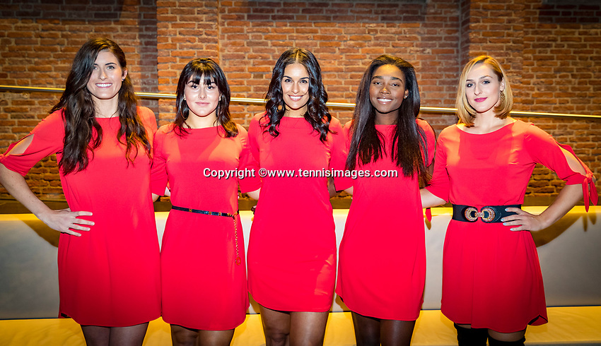 Den Bosch, The Netherlands, Februari 07 2019,  Maaspoort , FedCup  Netherlands - Canada, official dinner, Team Canada<br /> Photo: Tennisimages/Henk Koster