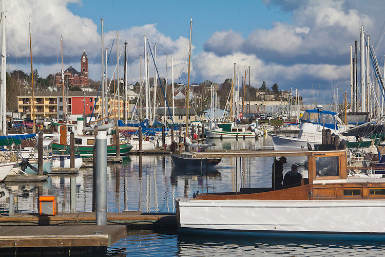 Port Townsend, Boat Haven Marina, classic yachts, Port of Port Townsend, Jefferson County, Olympic Peninsula, Puget Sound, Washington State, Pacific Northwest, USA,