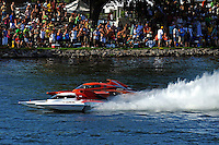 "Ken Brodie II, GP-50 ""Intensity"" and Bert Henderson, GP-79 ""Bad Influence""   (Grand Prix Hydroplane(s)"