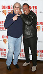 "Danny Aiello and Lee Mazzilli attend the off-Broadway Opening Night Performance of  ""Dinner With The Boys"" at Acorn Theatre on May 4, 2015 in New York City."