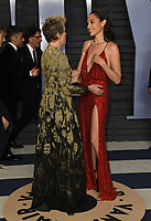 04 March 2018 - Los Angeles, California - Frances McDormand, Gal Gadot. 2018 Vanity Fair Oscar Party hosted following the 90th Academy Awards held at the Wallis Annenberg Center for the Performing Arts. <br /> CAP/ADM/BT<br /> &copy;BT/ADM/Capital Pictures
