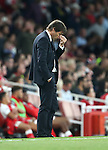 Chelsea's Antonio Conte looks on dejected during the Premier League match at the Emirates Stadium, London. Picture date September 24th, 2016 Pic David Klein/Sportimage