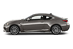 Car driver side profile view of a 2018 Lexus RC F 3 Door Coupe