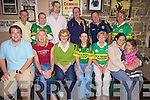 Fans from the Harp & Lion Bar, Listowel in preparation for the big game. B L-R, Peter O'Higgins, Billy Kane, Richie Nolan, John Hannon, Seamus Welsh, Mike Lynch. F L-R, Shane Hannon, Mary Kelly, Noreen Kane, Margo Canavan, Maureen Lynch, Abigail Dukes, Anisha Flynn.