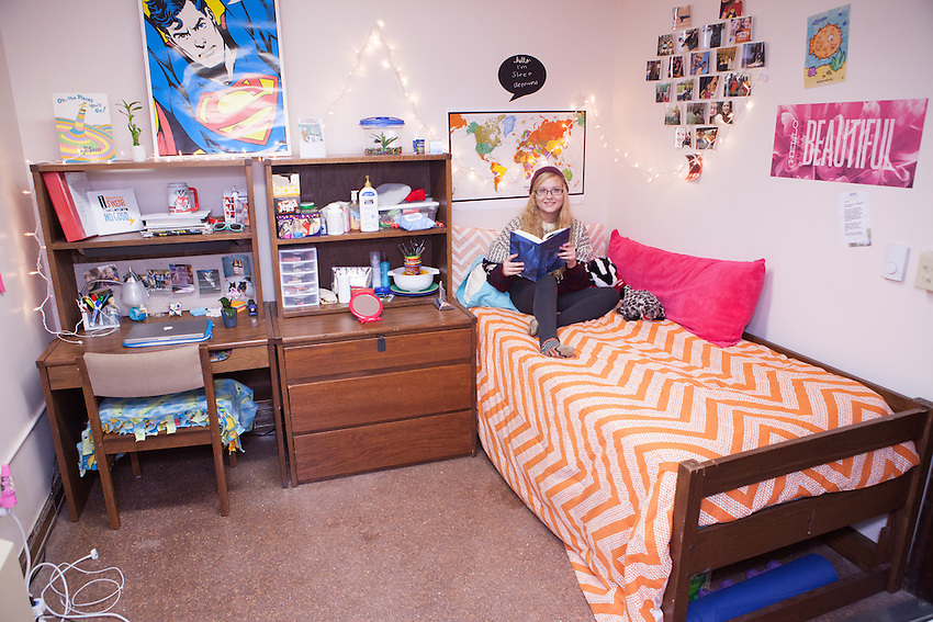 Student Taylor Mershon In Her Room In Adams Hall. Part 46