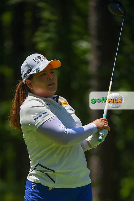 Inbee Park (KOR) watches her tee shot on 2 during round 1 of the U.S. Women's Open Championship, Shoal Creek Country Club, at Birmingham, Alabama, USA. 5/31/2018.<br /> Picture: Golffile   Ken Murray<br /> <br /> All photo usage must carry mandatory copyright credit (© Golffile   Ken Murray)