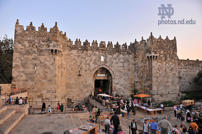 Damascus gate, Jerusalem..Photo by Matt Cashore/University of Notre Dame