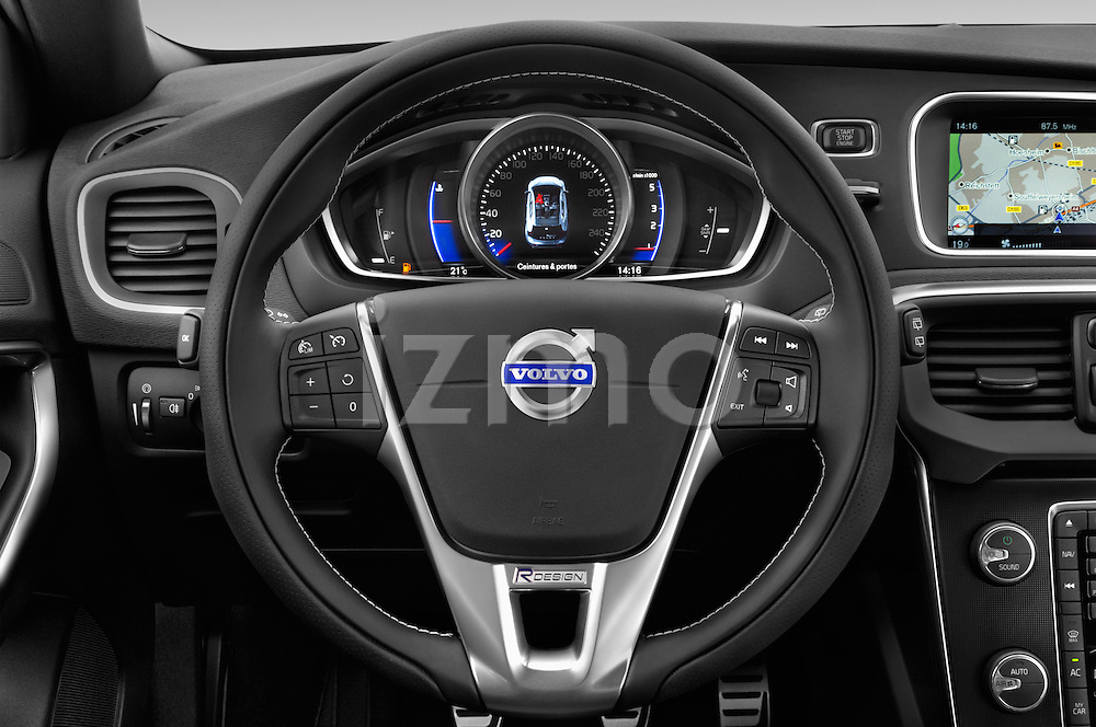 Car pictures of steering wheel view of a 2015 Volvo V40 R-Design 5 Door Hatchback Steering Wheel