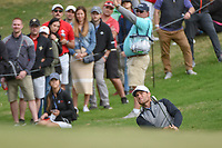 Lucas Bjerregaard (DEN) watches his chip on to 18 during day 4 of the WGC Dell Match Play, at the Austin Country Club, Austin, Texas, USA. 3/30/2019.<br /> Picture: Golffile | Ken Murray<br /> <br /> <br /> All photo usage must carry mandatory copyright credit (© Golffile | Ken Murray)