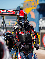 Apr 23, 2017; Baytown, TX, USA; NHRA top fuel driver Steve Torrence during the Springnationals at Royal Purple Raceway. Mandatory Credit: Mark J. Rebilas-USA TODAY Sports