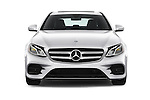 Car photography straight front view of a 2017 Mercedes Benz E-Class E300 4 Door Sedan Front View