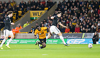 4th January 2020; Molineux Stadium, Wolverhampton, West Midlands, England; English FA Cup Football, Wolverhampton Wanderers versus Manchester United; Ashley Seal of Wolverhampton Wanderers brought down by Harry Maguire of Manchester United  - Strictly Editorial Use Only. No use with unauthorized audio, video, data, fixture lists, club/league logos or 'live' services. Online in-match use limited to 120 images, no video emulation. No use in betting, games or single club/league/player publications