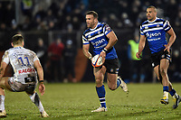 Jamie Roberts of Bath Rugby in possession. Premiership Rugby Cup match, between Bath Rugby and Gloucester Rugby on February 3, 2019 at the Recreation Ground in Bath, England. Photo by: Patrick Khachfe / Onside Images