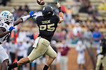 Cam Serigne (85) of the Wake Forest Demon Deacons catches a pass during first half action against the Presbyterian Blue Hose at BB&T Field on August 31, 2017 in Winston-Salem, North Carolina.  The Demon Deacons defeated the Blue Hose 51-7.  (Brian Westerholt/Sports On Film)