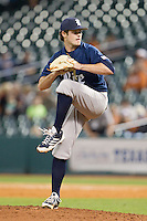Rice Owls relief pitcher Kevin McCanna #23 in action against the Texas Longhorns at Minute Maid Park on February 28, 2014 in Houston, Texas.  The Longhorns defeated the Owls 2-0.  (Brian Westerholt/Four Seam Images)
