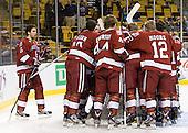 - The Boston University Terriers defeated the Harvard University Crimson 3-1 in the opening round of the 2012 Beanpot on Monday, February 6, 2012, at TD Garden in Boston, Massachusetts.