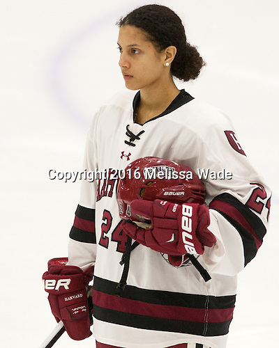 Chelsea Ziadie (Harvard - 24) - The visiting Boston College Eagles defeated the Harvard University Crimson 2-0 on Tuesday, January 19, 2016, at Bright-Landry Hockey Center in Boston, Massachusetts.
