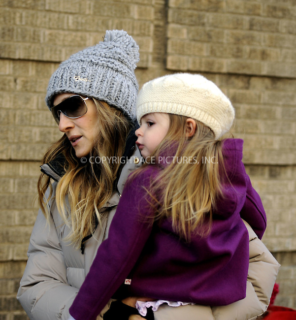 WWW.ACEPIXS.COM....December 14 2012, New York City....Actors Sarah Jessica Parker and Matthew Broderick enjoy their morning photo op as they take twins Tabitha and Marion to school on December 14 2012 in New York City....By Line: Curtis Means/ACE Pictures......ACE Pictures, Inc...tel: 646 769 0430..Email: info@acepixs.com..www.acepixs.com