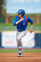 South Bend Cubs second baseman Jhonny Bethencourt (6) runs the bases during the first game of a doubleheader against the Lake County Captains on May 16, 2018 at Classic Park in Eastlake, Ohio.  South Bend defeated Lake County 6-4 in twelve innings.  (Mike Janes/Four Seam Images)