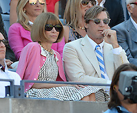 FLUSHING NY- SEPTEMBER 9: Anna Wintour is sighted watching Novak Djokovic Vs David Ferrer in the mens semi finals on Arthur Ashe Stadium at the USTA Billie Jean King National Tennis Center on September 9, 2012 in in Flushing Queens. Credit: mpi04/MediaPunch Inc. ***NO NY NEWSPAPERS*** /NortePhoto.com<br />
