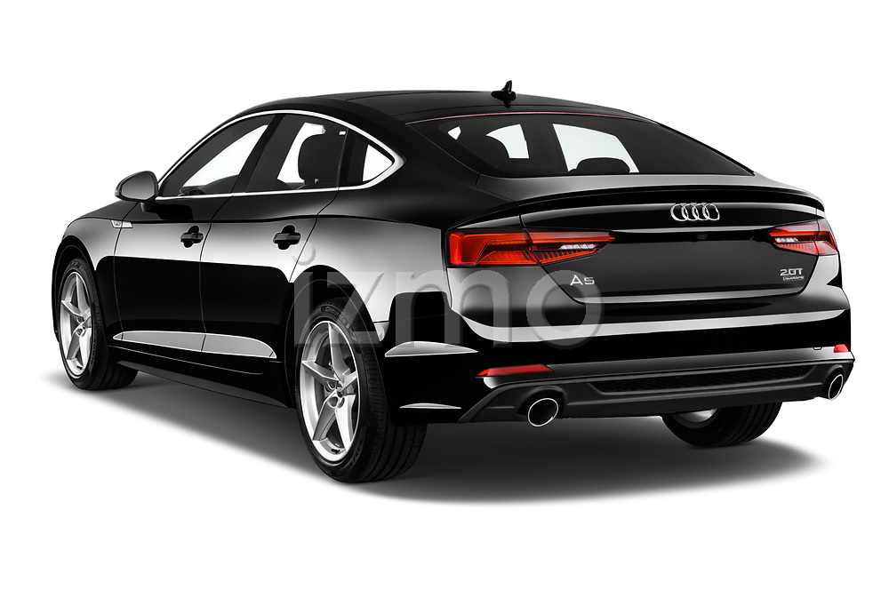 Car pictures of rear three quarter view of 2018 Audi A5 Sportback Premium Plus  5 Door Hatchback angular rear