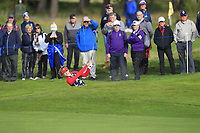 Nelly Korda of Team USA on the 7th during Day 1 Foursomes at the Solheim Cup 2019, Gleneagles Golf CLub, Auchterarder, Perthshire, Scotland. 13/09/2019.<br /> Picture Thos Caffrey / Golffile.ie<br /> <br /> All photo usage must carry mandatory copyright credit (© Golffile | Thos Caffrey)