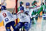 Stockholm 2013-03-05 Bandy SM-semifinal 2 , Hammarby IF - Edsbyns IF :  .Edsbyn 17 Mattias Hammarström jublar efter 2-0.(Byline: Foto: Kenta Jönsson) Nyckelord:  jubel glädje lycka glad happy