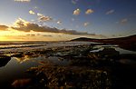 E Medano beach at dusk, El Medano, Tenerife, Canary Islands.