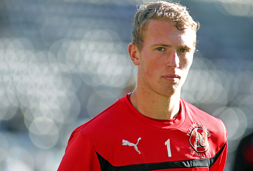 Fleetwood Town's Scott Davies during the pre-match warm-up <br /> <br /> Photographer Rich Linley/CameraSport<br /> <br /> Football - The Football League Sky Bet League One - Preston North End v Fleetwood Town - Saturday 25th October 2014 - Deepdale - Preston<br /> <br /> &copy; CameraSport - 43 Linden Ave. Countesthorpe. Leicester. England. LE8 5PG - Tel: +44 (0) 116 277 4147 - admin@camerasport.com - www.camerasport.com