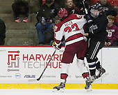 David Valek (Harvard - 23), Alex Grieve (Bentley - 23) - The Harvard University Crimson defeated the visiting Bentley University Falcons 3-0 on Saturday, October 26, 2013, in Harvard's season opener at Bright-Landry Hockey Center in Cambridge, Massachusetts.