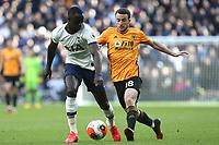 Diogo Jota of Wolverhampton Wanderers and Davinson Sanchez of Tottenham Hotspur during Tottenham Hotspur vs Wolverhampton Wanderers, Premier League Football at Tottenham Hotspur Stadium on 1st March 2020