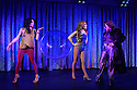 London, UK. 10.06.2016. the Donkey Show opens at Proud Camden. Picture shows: Natalie Chua (Disco Girl), Melissa Bayern (Tytania), Vikki Stone (Oberon). Photograph © Jane Hobson.