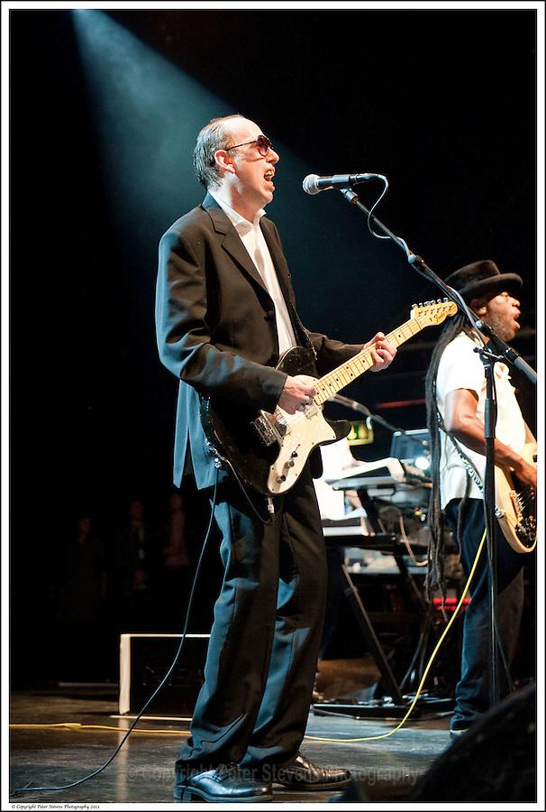 Mick Jones &amp; Leo 'E-Zee Kill' Williams, -<br /> <br /> Big Audio Dynamite perform at the Shepherds Bush Empire on the 2nd April 2011