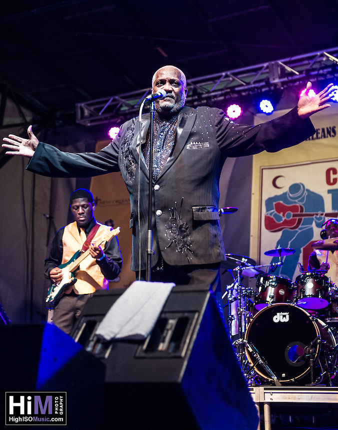 Mel Waiters performs at the 2013 Blues & BBQ Festival in New Orleans, LA.
