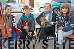 Buskers at Feile Neidin in Kenmare on Saturday afternoon. .L-R Lilly Krup, Eoin Doherty, Ladina Jeisy and Lucy Krup all from Achilles.