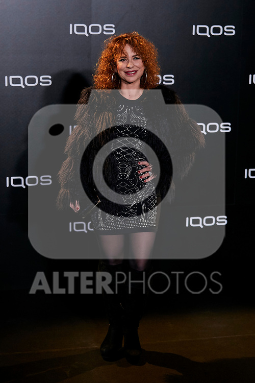 Vicky Larraz attends to IQOS3 presentation at Palacio de Cibeles in Madrid, Spain. February 13, 2019. (ALTERPHOTOS/A. Perez Meca)
