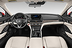 Stock photo of straight dashboard view of a 2019 Honda Accord LX 4 Door Sedan
