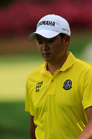Shugo Imahira (JPN) on the 13th during the 1st round at the The Masters , Augusta National, Augusta, Georgia, USA. 11/04/2019.<br /> Picture Fran Caffrey / Golffile.ie<br /> <br /> All photo usage must carry mandatory copyright credit (&copy; Golffile | Fran Caffrey)