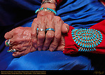 Hands of the Weaver, Susie Yazzie, Matriarch of the Navajo Todicheenie Clan, Monument Valley Navajo Tribal Park, Navajo Nation Reservation, Utah/Arizona Border